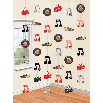 7' Strings Classic 50's String Decorations - Foil & Paper