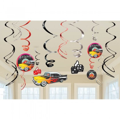 Classic 50's Value Pack Foil Swirl Decorations
