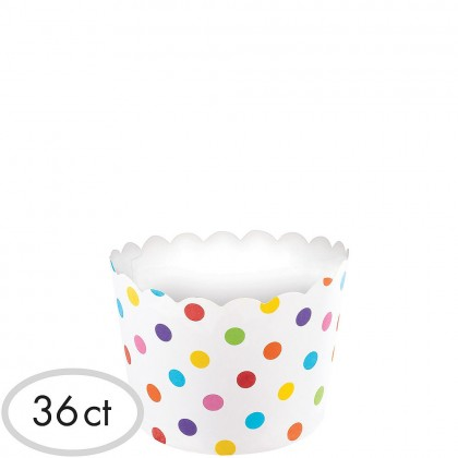 Paper Minis Small Scalloped Cups - Rainbow