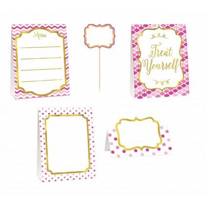 Paper Minis Buffet Decorating Kit - Pink