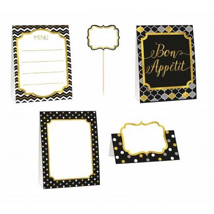Paper Minis Buffet Decorating Kit - Black