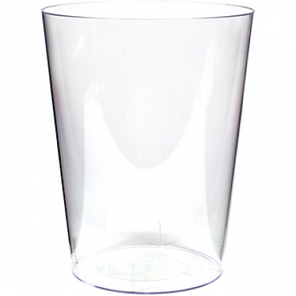 """Large, 7 1/2"""" Cylinder Container Clear - Plastic"""