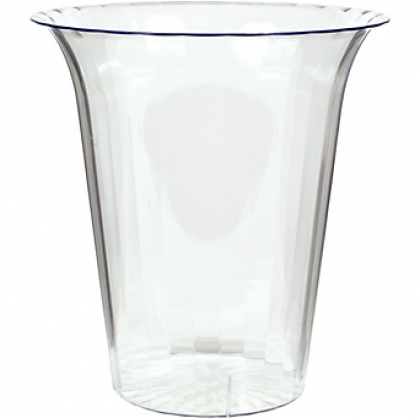 """5 7/8"""" Plastic Flared Cylinder Container - Medium - Clear"""