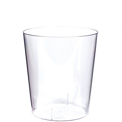 """5 3/4"""" Plastic Cylinder Container - Medium - Clear"""
