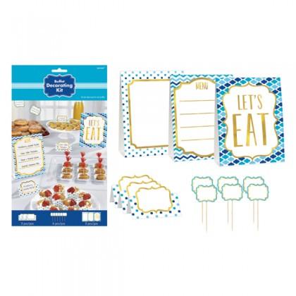 Paper Minis Buffet Decorating Kit - Blue