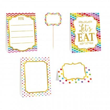 Paper Minis Buffet Decorating Kit - Rainbow