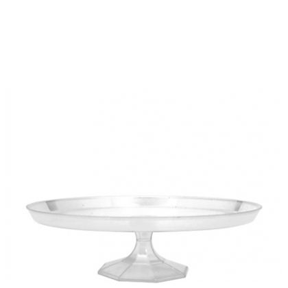 """9.75"""" Small Dessert Stand - Clear"""