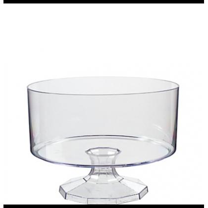 """5 7/8"""" Plastic Triffle Container - Medium - Clear"""
