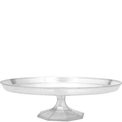 """13 1/4"""" Large Dessert Stand - Clear"""