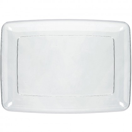 """8"""" x 11"""" Small Serving Tray - Clear"""