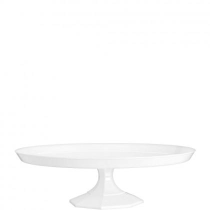 "11 3/4"" Medium Dessert Stand - White Plastic"