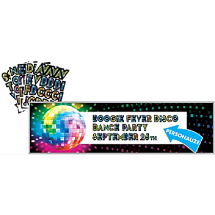 Disco Fever Personalize It! Giant Sign Banner