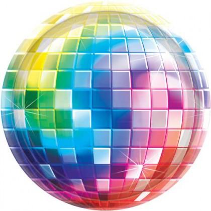 """Disco Fever Round Plates, 7"""""""