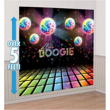 Disco Fever Scene Setters® Wall Decorating Kit - Plastic