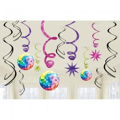 Disco Fever Value Pack Foil Swirl Decorations