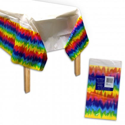 Feeling Groovy Plastic Table Cover