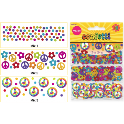 1.2 oz. Feeling Groovy Value Pack Confetti - Paper & Foil