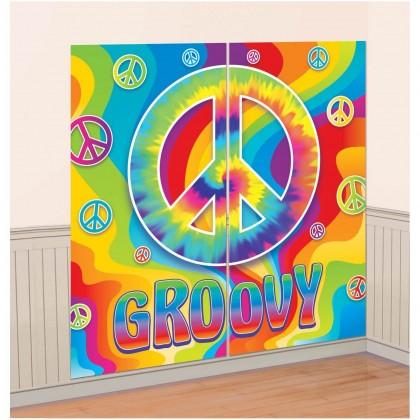 Feeling Groovy Scene Setters® Wall Dec. Kit - Plastic