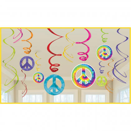 Feeling Groovy Value Pack Foil Swirl Decorations