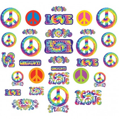 "5"", 7"", 11 1/2"" Feeling Groovy Mega Value Pack Cutout Assortment - Printed Paper"