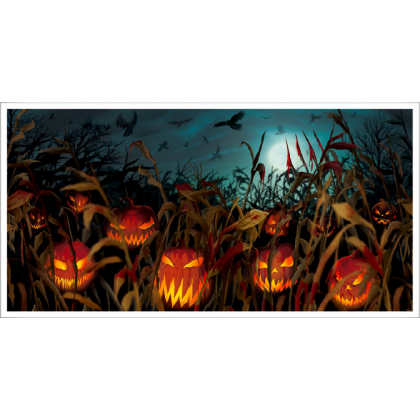 Field of Screams Side Show Horizontal Banner - Plastic