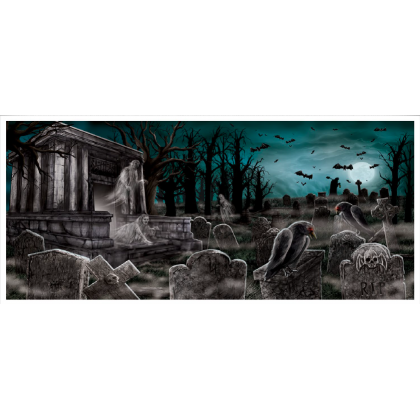 Cemetry Plastic Horizontal Banner