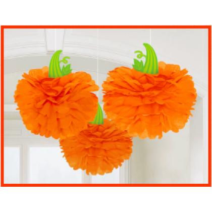 Pumpkins Paper Fluffy Decorations