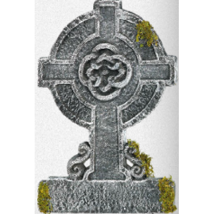 Cemetry Mossy Celtic Cross TombStone