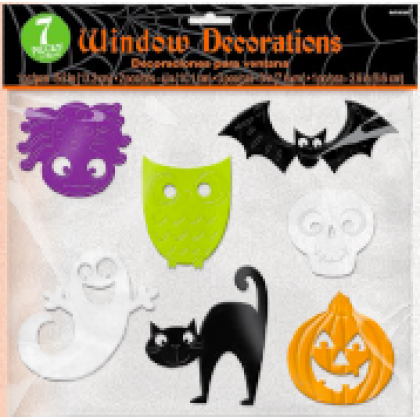 Family Friendly Friendly Mummy Halloween Window Clings