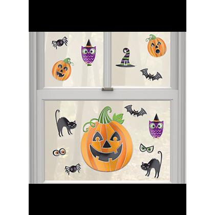 Pumpkins Embossed Window Stickers