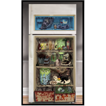 Asylum/Chop Shop Halloween Refrigerator Door Cover