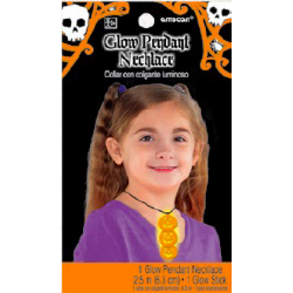 Halloween Glow Pendant Necklace - Pumpkin