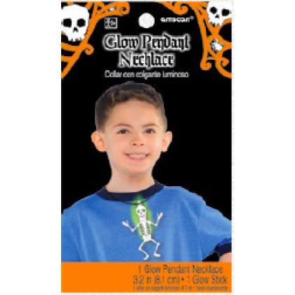 Halloween Glow Pendant Necklace - Skeleton