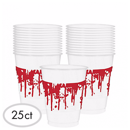 Bloody Good Time Blood Spattered 16 oz. Plastic Cups