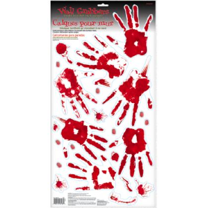 Asylum/Chop Shop Skeleton Hand Print Wall Grabbers