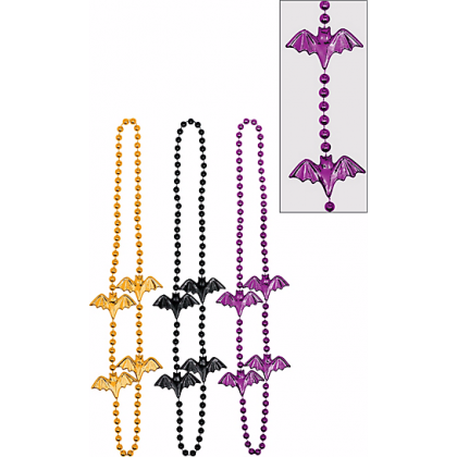 Halloween Bat Bead Necklace