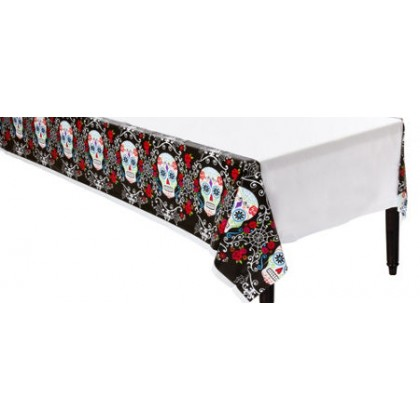 "Day of The Dead All-over Print Plastic TableCover, 54"" x 102"""