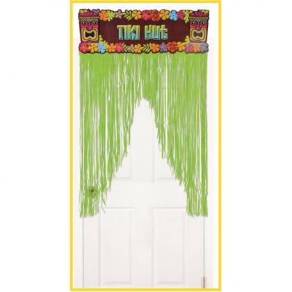 """54"""" x 38"""" Totally Tiki Metallic Door Curtain"""