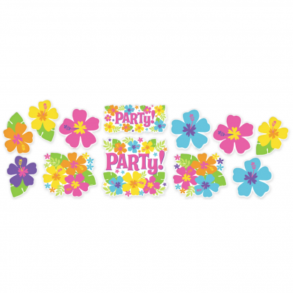 """7"""", 9"""", 11"""" Hibiscus Value Pack Printed Paper Cutouts"""