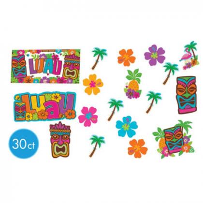 "5"", 7"", 11 1/2"" Tiki Assortment Mega Value Pack Cutouts - Printed Paper"