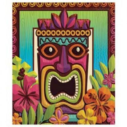 Tropical Tiki Plastic Table Covers