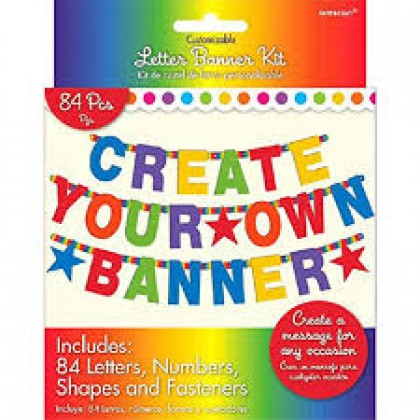 Customizable Letter Banner Printed Paper - Rainbow