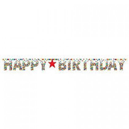 """11' x 12 1/2"""" Giant Letter Banner - Printed Paper - Rainbow"""