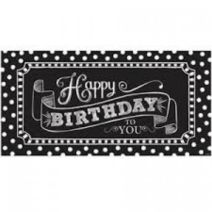 "65"" x 33 1/2"" Giant Party Sign - Plastic - Black & White"
