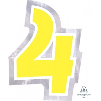 """Personalized It Number """"4"""""""