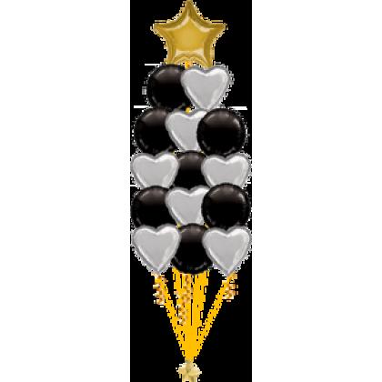 Balloon Centrepiece (15 Foil)