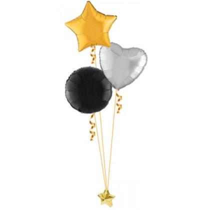 Balloon Centrepiece (3 Foil)