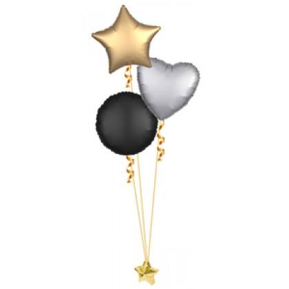 Balloon Centrepiece (3 Foil Satin Luxe)