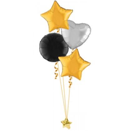 Balloon Centrepiece (4 Foil)