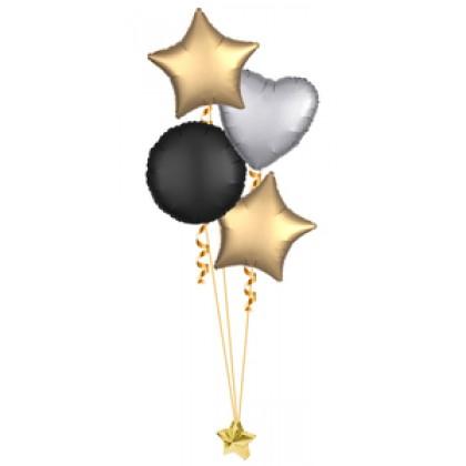 Balloon Centrepiece (4 Foil Satin Luxe)